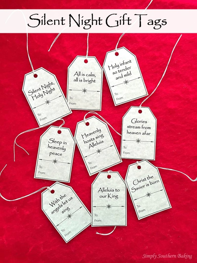 Silent Night Gift Tags Printable   Simply Southern Baking - Free Printable Baking Labels