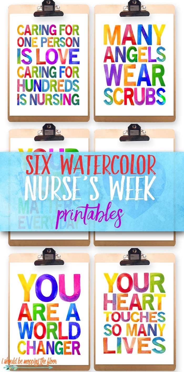 Six Nurses Week Printables | I Should Be Mopping The Floor - Nurses Day Cards Free Printable