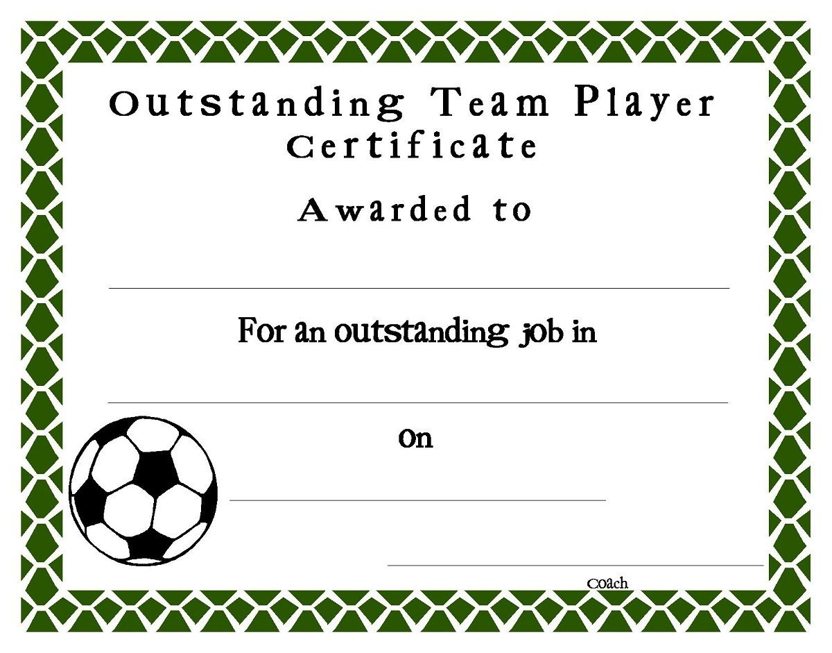 Soccer Award Certificates Template | Kiddo Shelter | Blank - Free Printable Soccer Certificate Templates