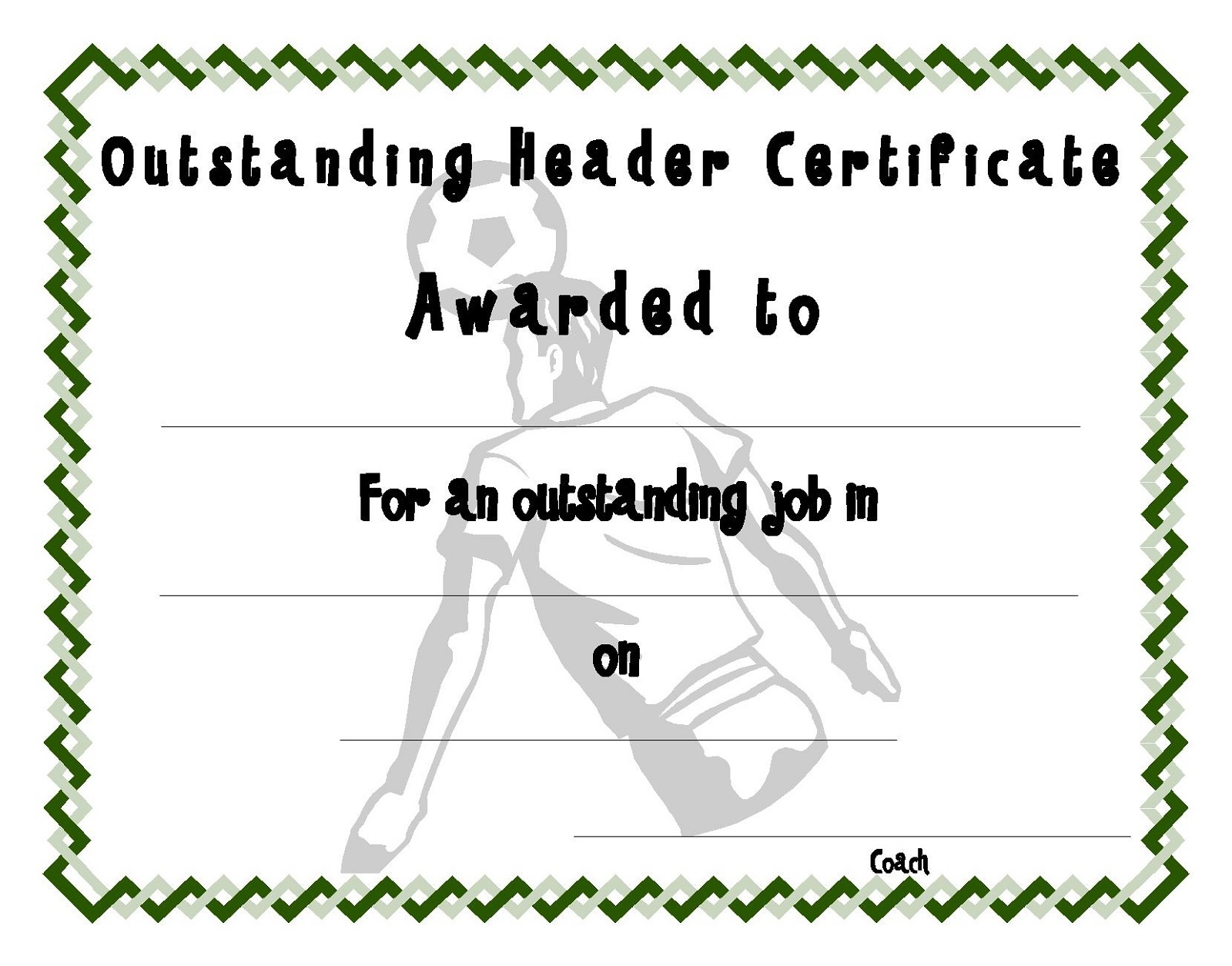 Soccer Certificate Templates | Activity Shelter - Free Printable Soccer Certificate Templates