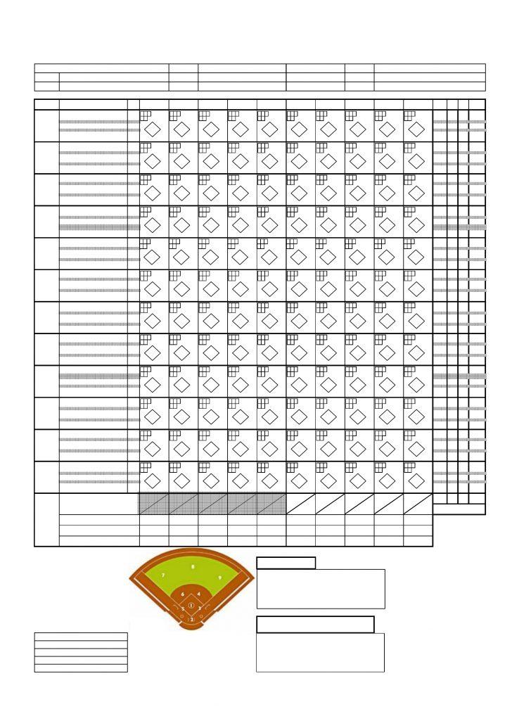 Free Printable Softball Stat Sheets