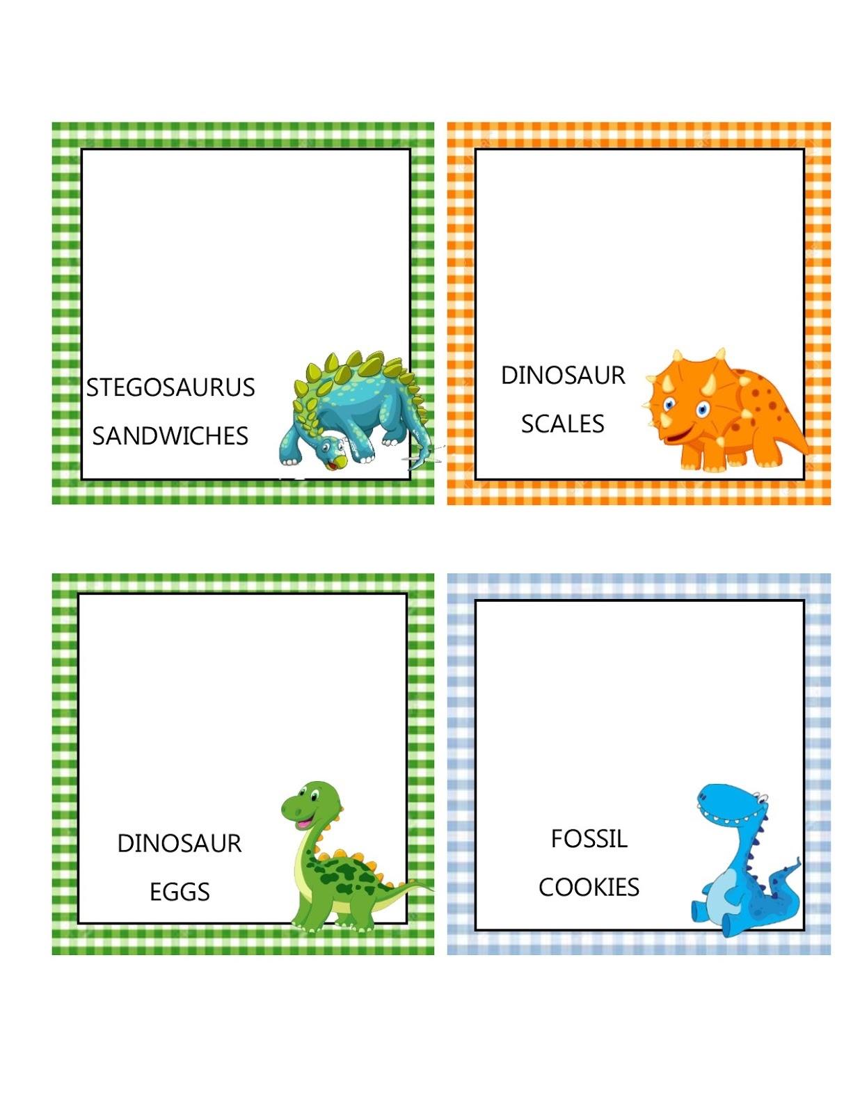 Southern Blue Celebrations: Free Dinosaur Food Tent Labels - Free Printable Dinosaur Labels