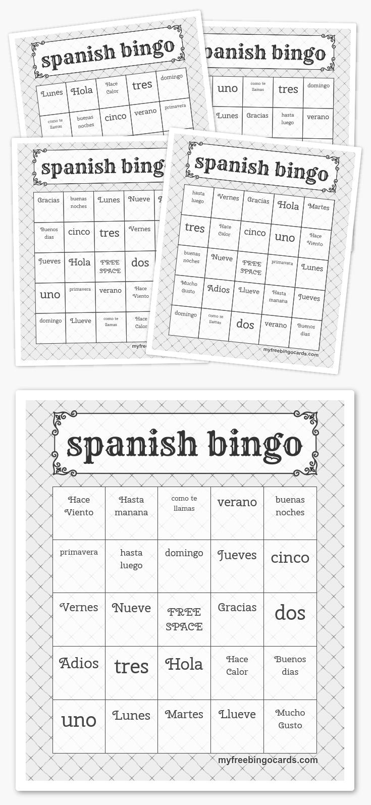 Spanish Bingo   Paises Latinos   Free Printable Bingo Cards, Bingo - Free Printable Spanish Bingo Cards