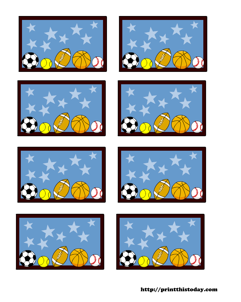 Sports Themed Baby Shower Labels (Templates) - Free Printable Baby Shower Labels And Tags