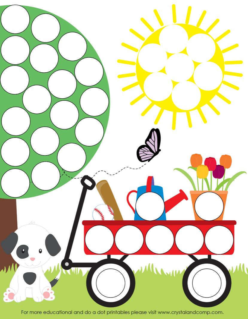 Spring Do A Dot Printables For Preschoolers | Dot Pages | Preschool - Do A Dot Art Pages Free Printable