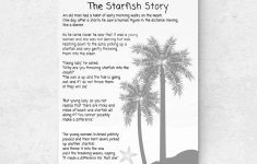 Starfish Poem Printable – Masterprintable – Starfish Story Printable Free