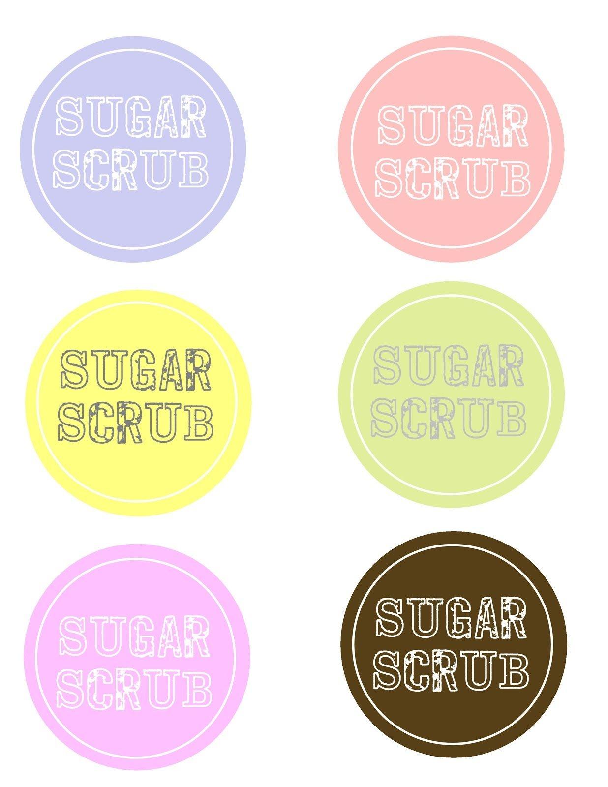 Sugar Scrub And Free Labels   Sugar Scrub Recipe   Sugar Scrub Diy - Free Printable Sugar Scrub Labels