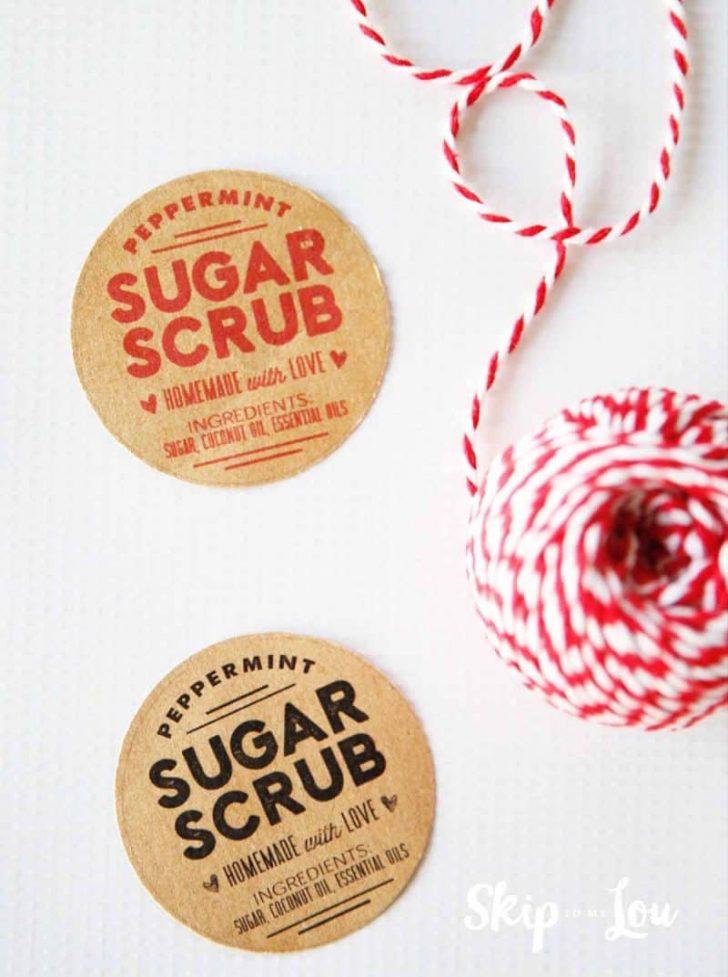 Free Printable Sugar Scrub Labels