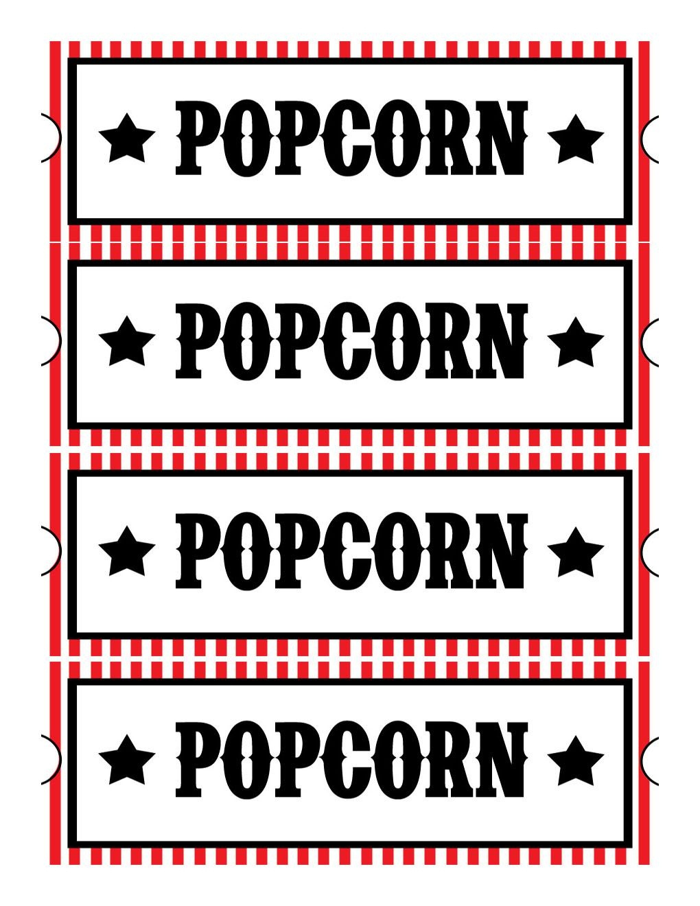 Sweet Daisy Designs: Free Printables: Home Movie Theatre Night - Free Printable Movie Tickets