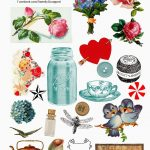 Sweetly Scrapped: Free Digital Collage Sheet   Free Printable Digital Collage Sheets