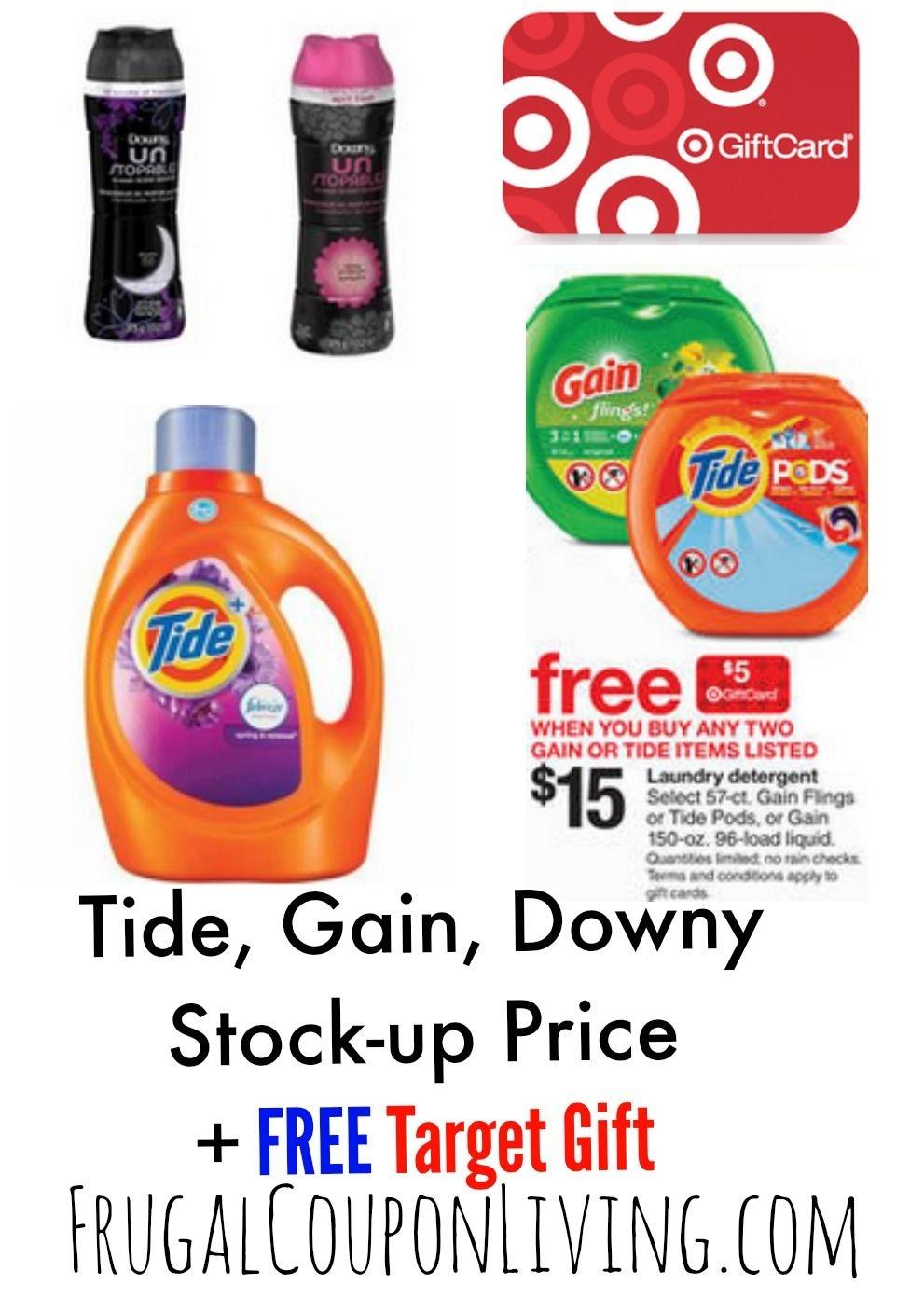 Target Laundry Detergent Deals + Tide & Downy Printable Coupons - Tide Coupons Free Printable
