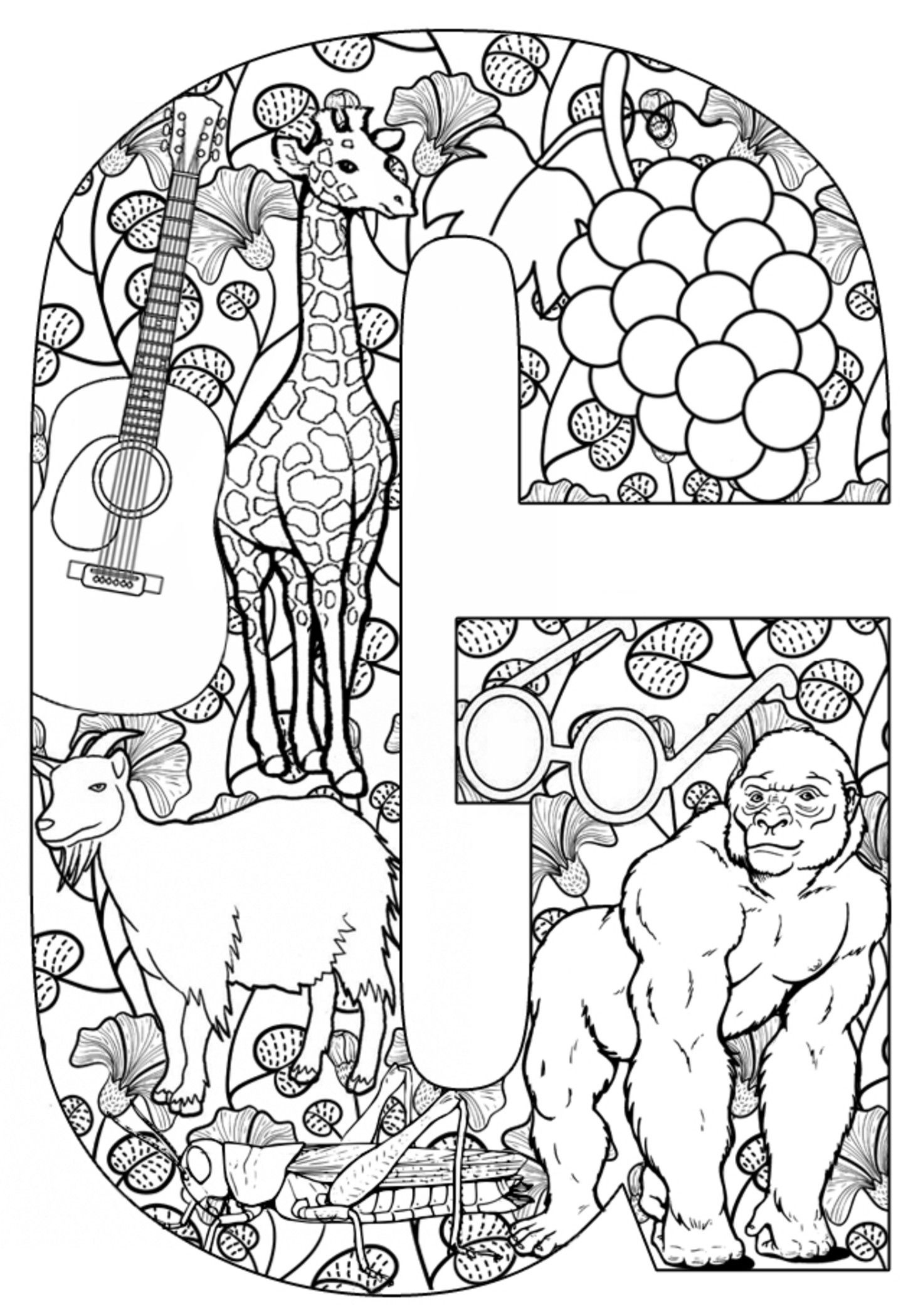 Teach Your Kids Their Abcs The Easy Way With Free Printables - Free Printable Letter G Coloring Pages