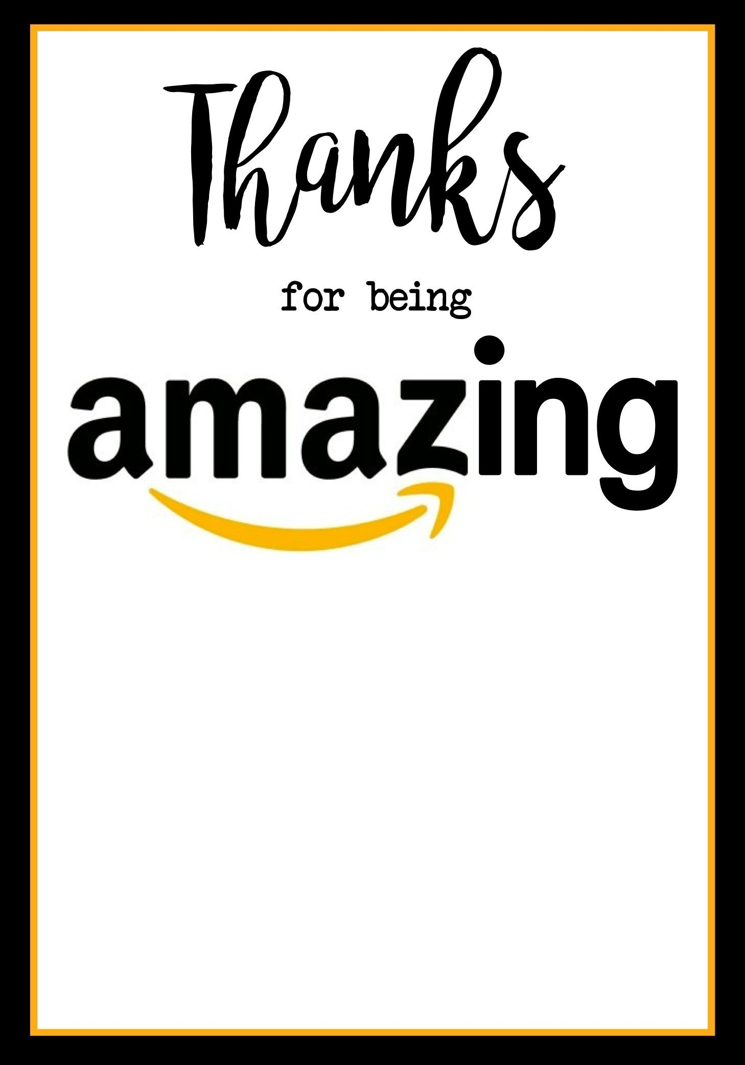 Teacher Appreciation Amazon Card | Teachers | Teacher Appreciation - Free Printable Teacher Appreciation Cards