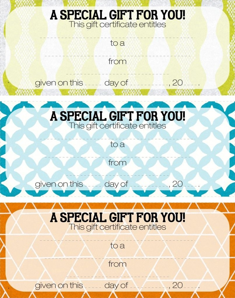 Teacher Appreciation - Tip #16: Give A Gift Certificate | Gift Ideas - Free Printable Play Date Cards