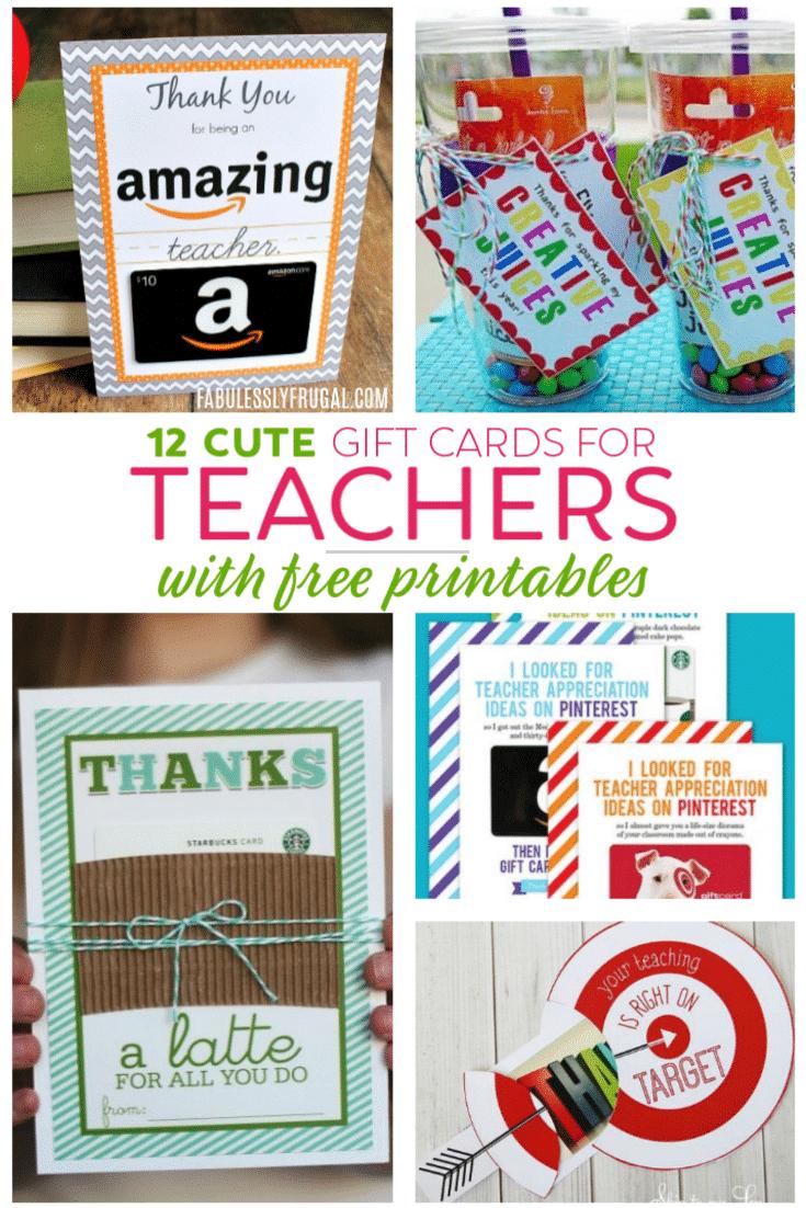 Teacher Gift Card Ideas & Gift Card Holder Printables - Fabulessly - Free Printable Teacher Appreciation Cards