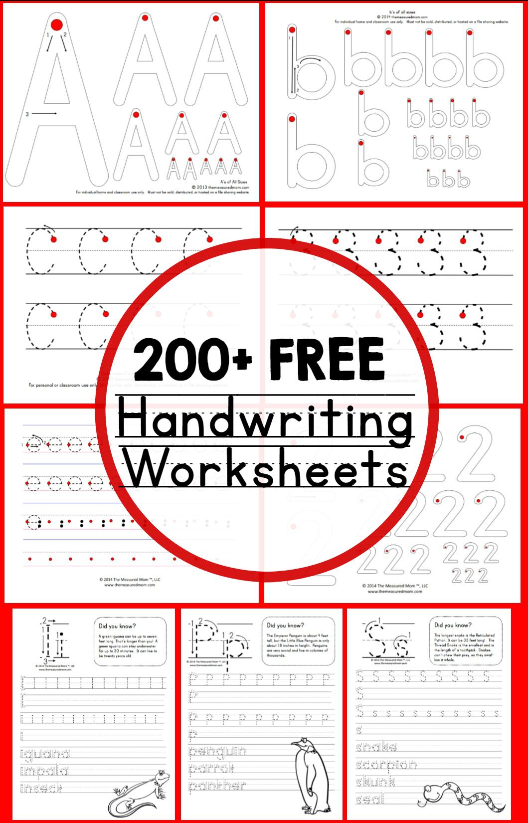 Teaching Handwriting - The Measured Mom - Free Printable Practice Name Writing Sheets