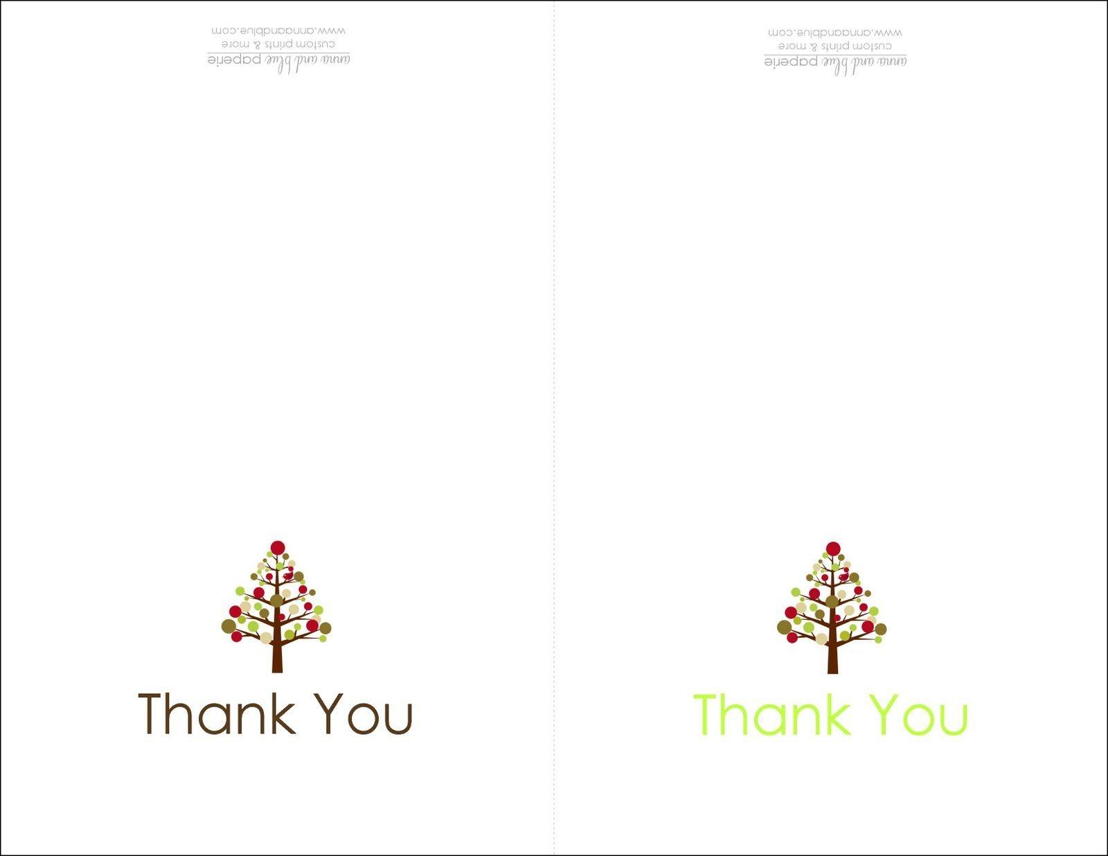 Thank You Cards Printable   Printable   Free Printable Christmas - Free Christmas Thank You Notes Printable