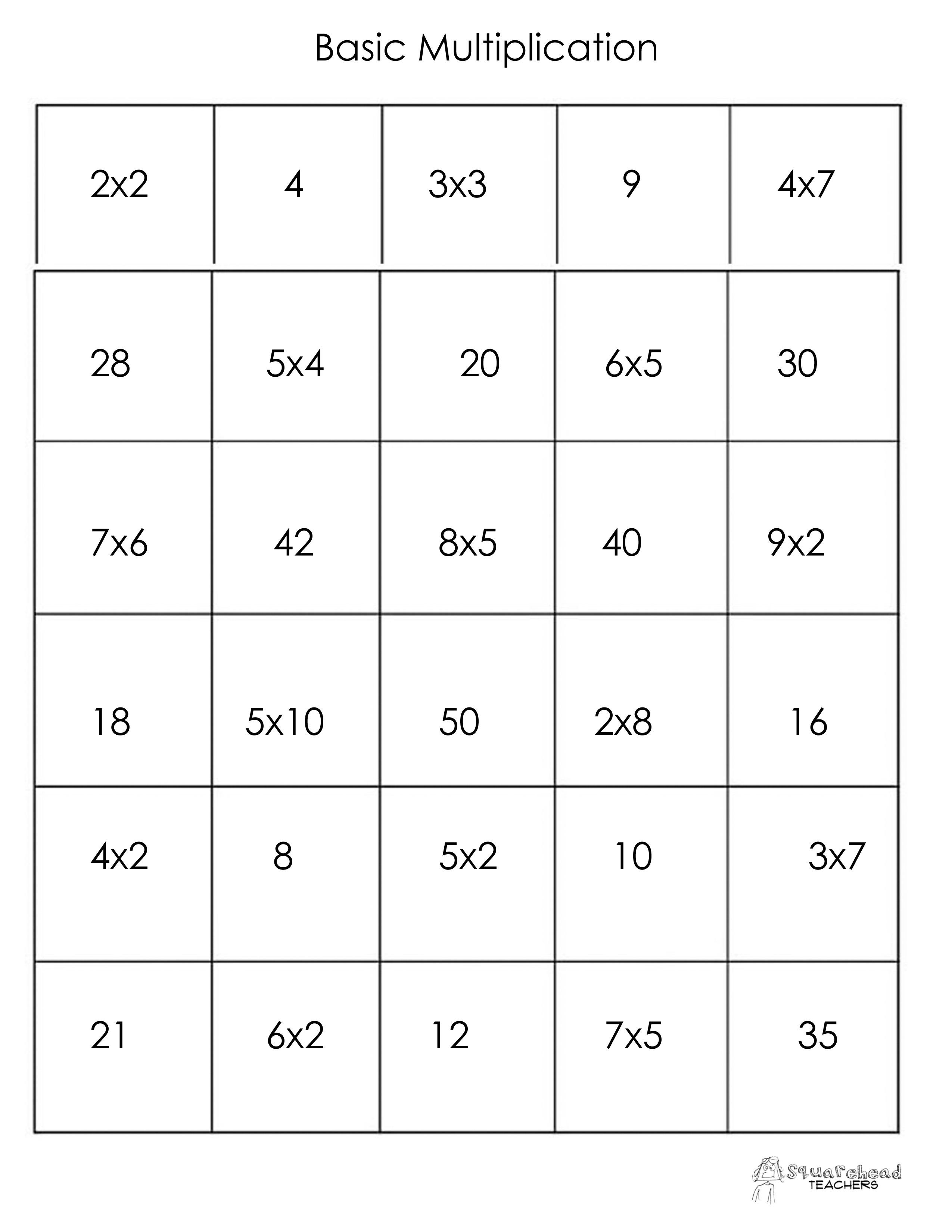 Thanksgiving Math Memory Game (Free Printable)   Squarehead Teachers - Free Printable Thanksgiving Math Worksheets For 3Rd Grade