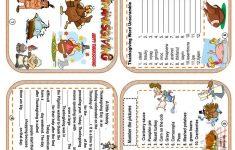Thanksgiving Minibook Worksheet – Free Esl Printable Worksheets Made – Free Thanksgiving Mini Book Printable