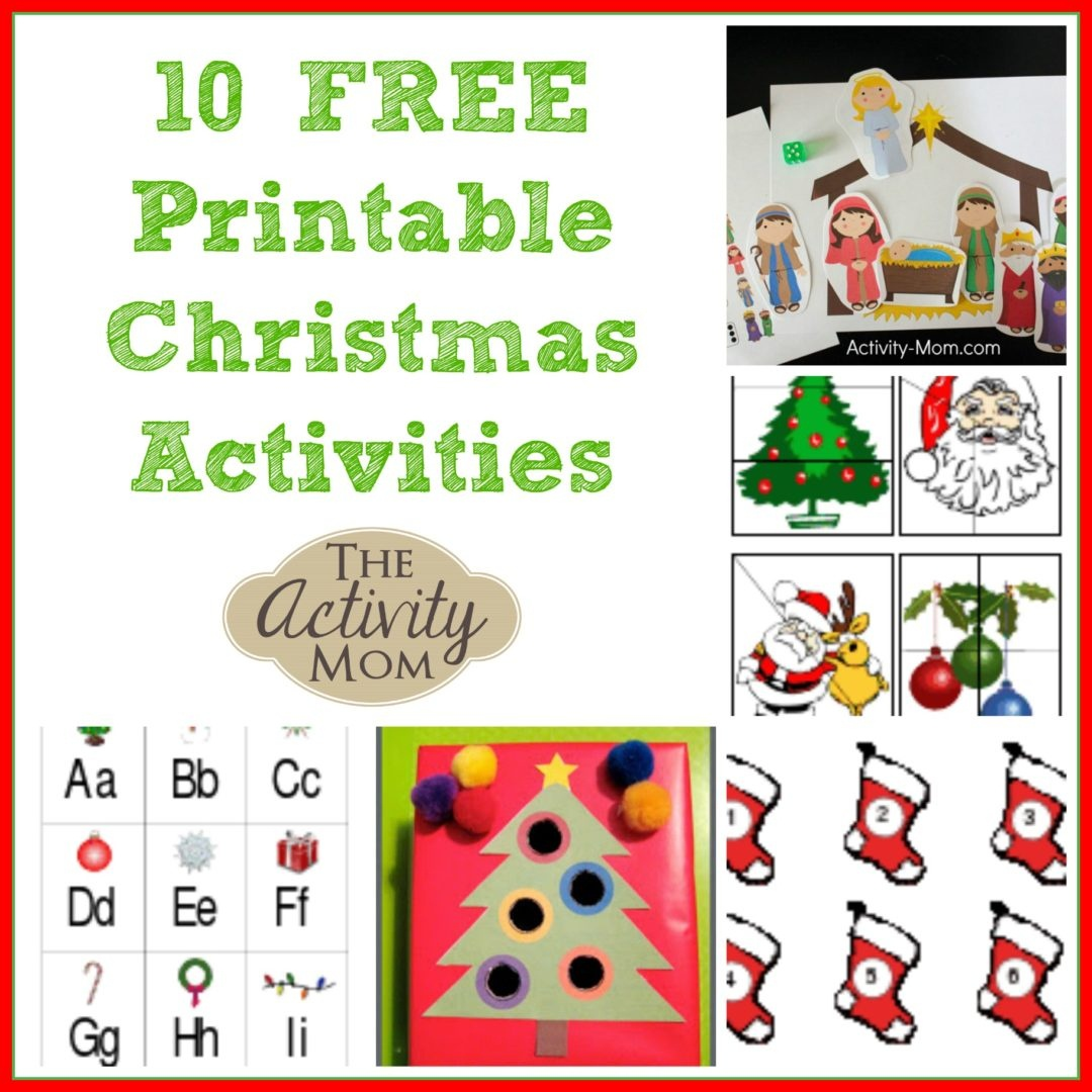 The Activity Mom - 10 Free Printable Christmas Activities - The - Free Printable Christmas Activities