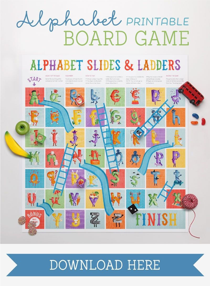 The Amazing Alphabet Printables & Storybook   Teaching The Alphabet - Free Printable Alphabet Board Games