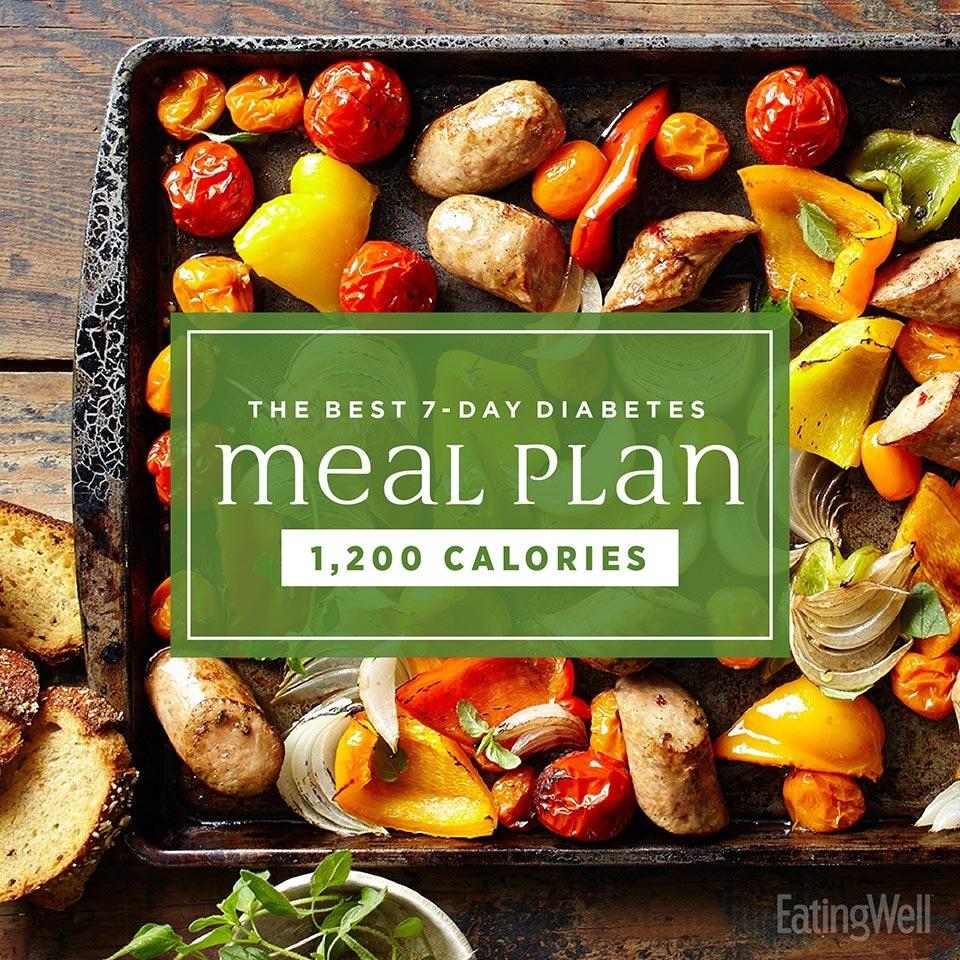 The Best 7-Day Diabetes Meal Plan - Eatingwell - Free Printable 1200 Calorie Diet Menu