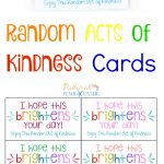 The Best Random Acts Of Kindness Printable Cards Free   Natural   Free Printable Kindness Cards