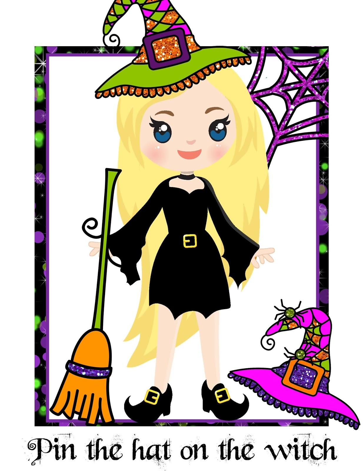 The Cozy Red Cottage: Pin The Hat On The Witch (Free Printable Game) - Pin The Tail On The Donkey Printable Free