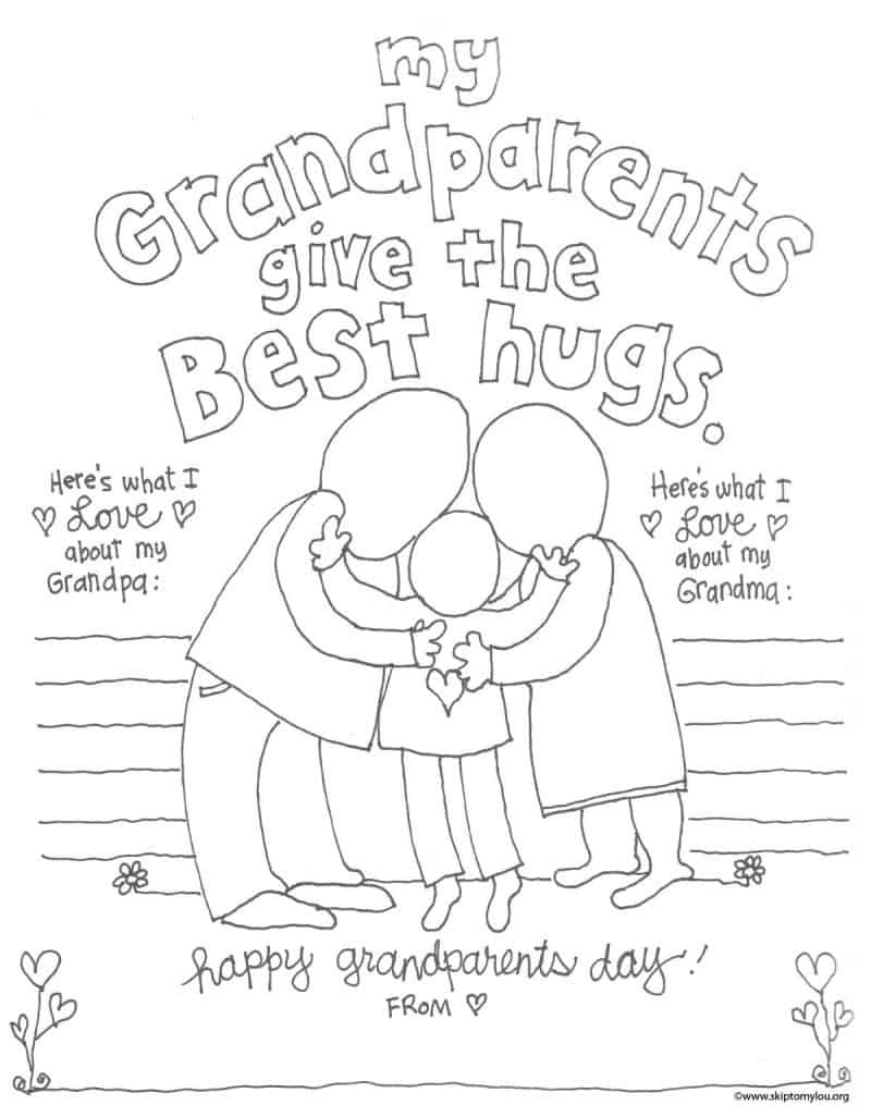 The Cutest Grandparents Day Coloring Pages   Skip To My Lou - Free Printable Fathers Day Coloring Pages For Grandpa