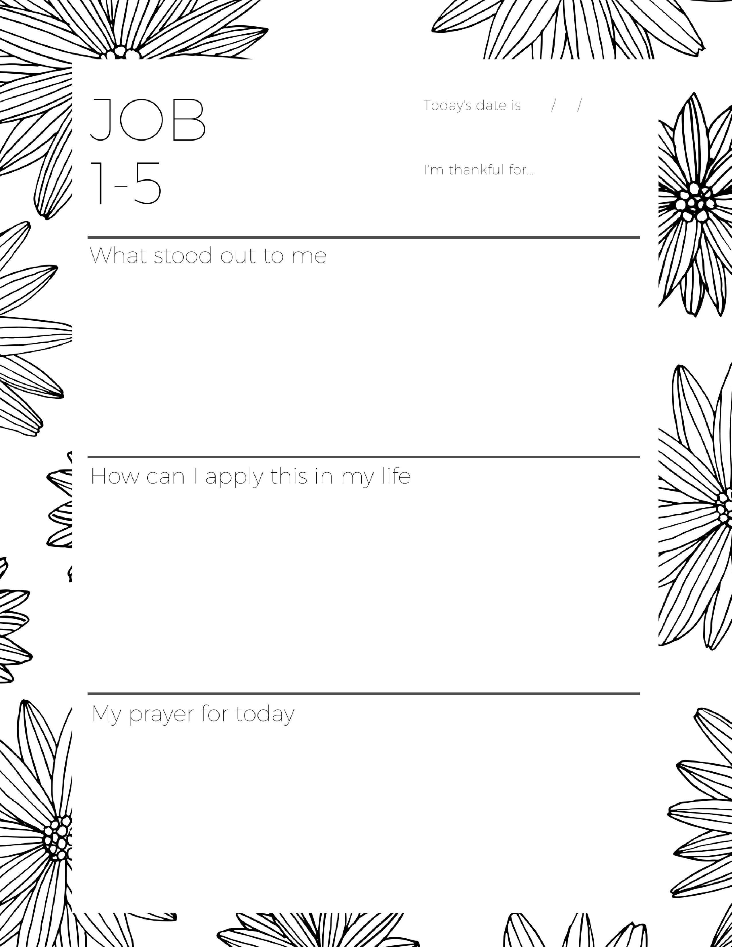 The Job Bible Study Companion (Printable Journal) | Bible Journaling - Free Printable Bible Study Lessons Genesis