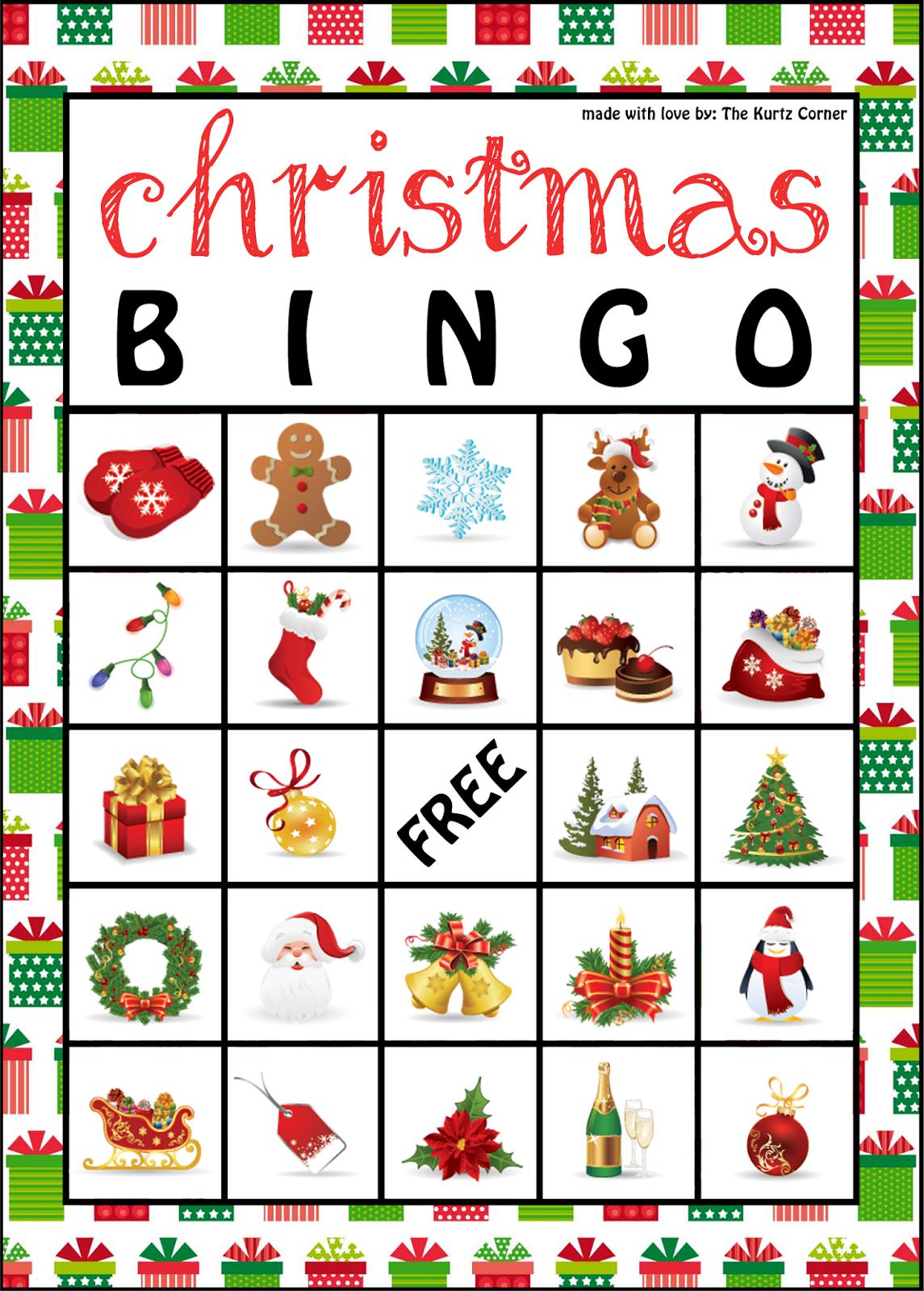 The Kurtz Corner: Free Printable Christmas Bingo Cards   Winter / X - Free Printable Christmas Bingo