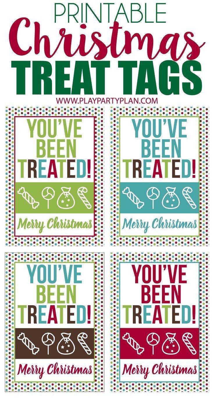 These Free Printable Christmas Treat Tags Are Perfect To Use As Bag - Free Printable Gift Bag Tags
