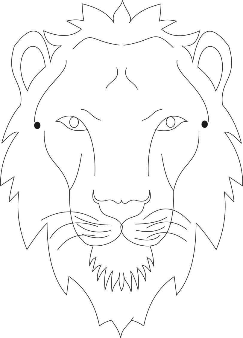 Tiger Mask Template Colouring Pages Drawing Tutorials Printable - Free Printable Lion Mask