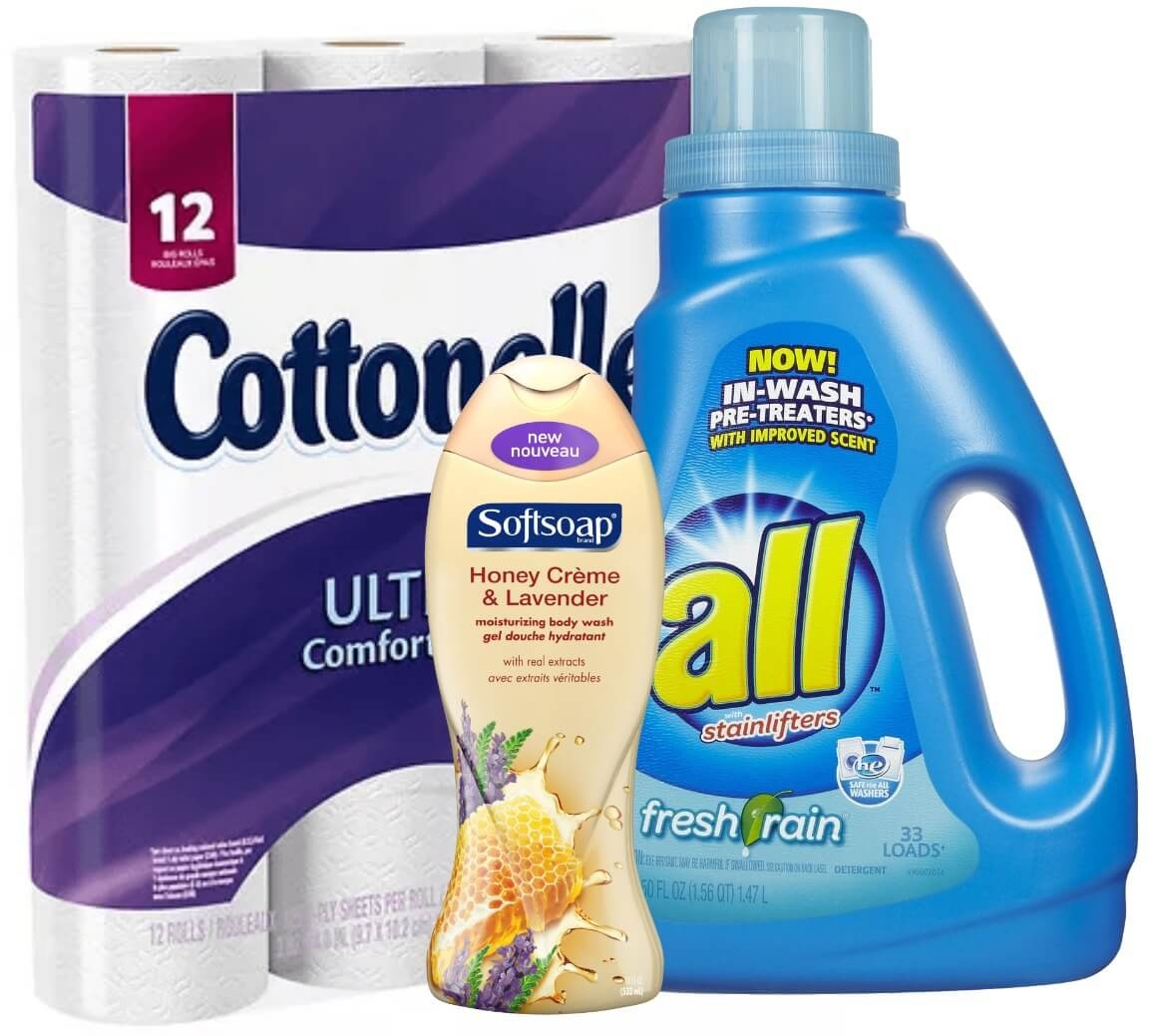 Today's Top New Coupons - Save On Cottonelle, Softsoap, All - Free All Detergent Printable Coupons