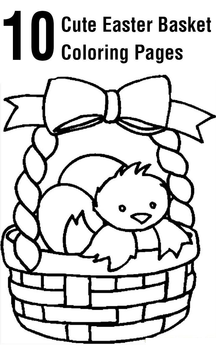 Top 10 Free Printable Easter Basket Coloring Pages Online | Coloring - Free Printable Coloring Pages Easter Basket