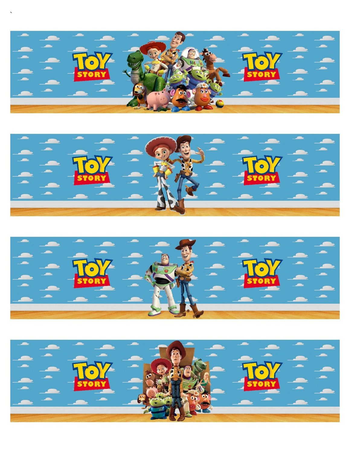 Toy Story Inspired Water Bottle Labelspinkyandbluesy On Etsy - Free Printable Toy Story Water Bottle Labels