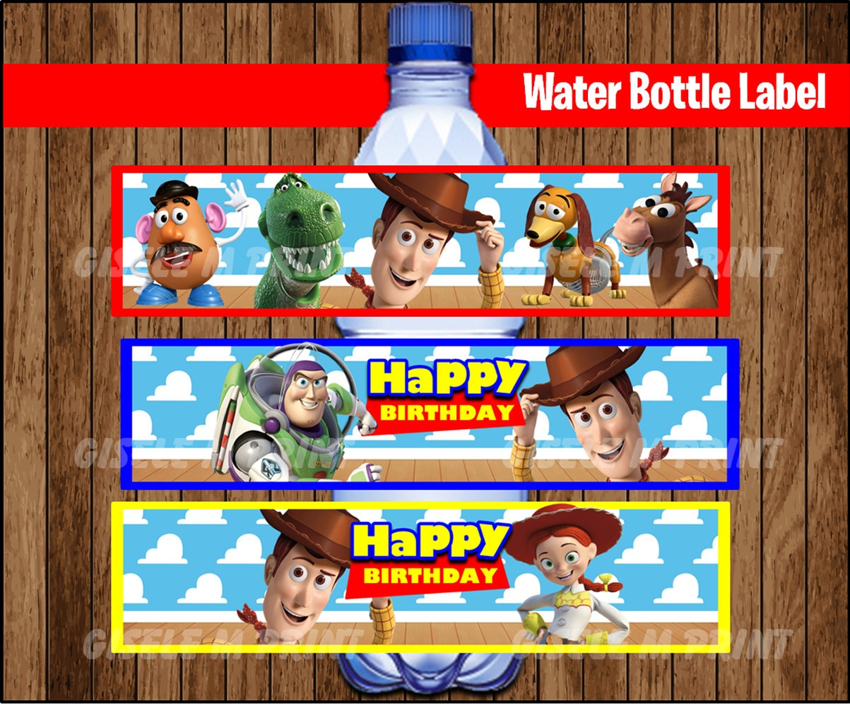 Toy Story Water Bottle Label Printable Toy Story Water | Etsy - Free Printable Toy Story Water Bottle Labels