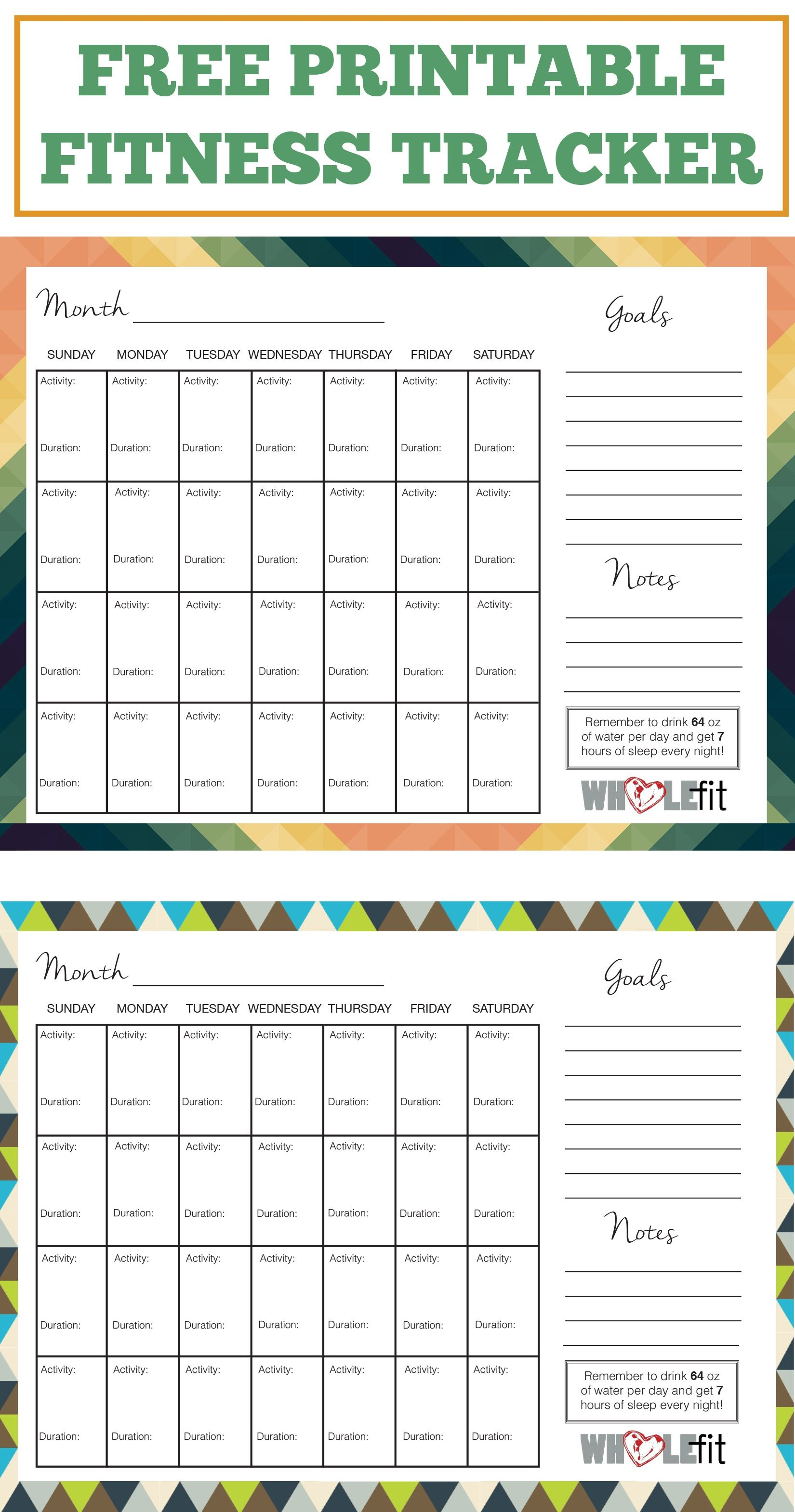 Track Your Progress With These Free Printable Fitness Trackers!   My - Free Printable Fitness Worksheets