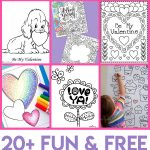 Valentines Coloring Pages   Happiness Is Homemade   Free Printable Valentines Day Cards For Parents