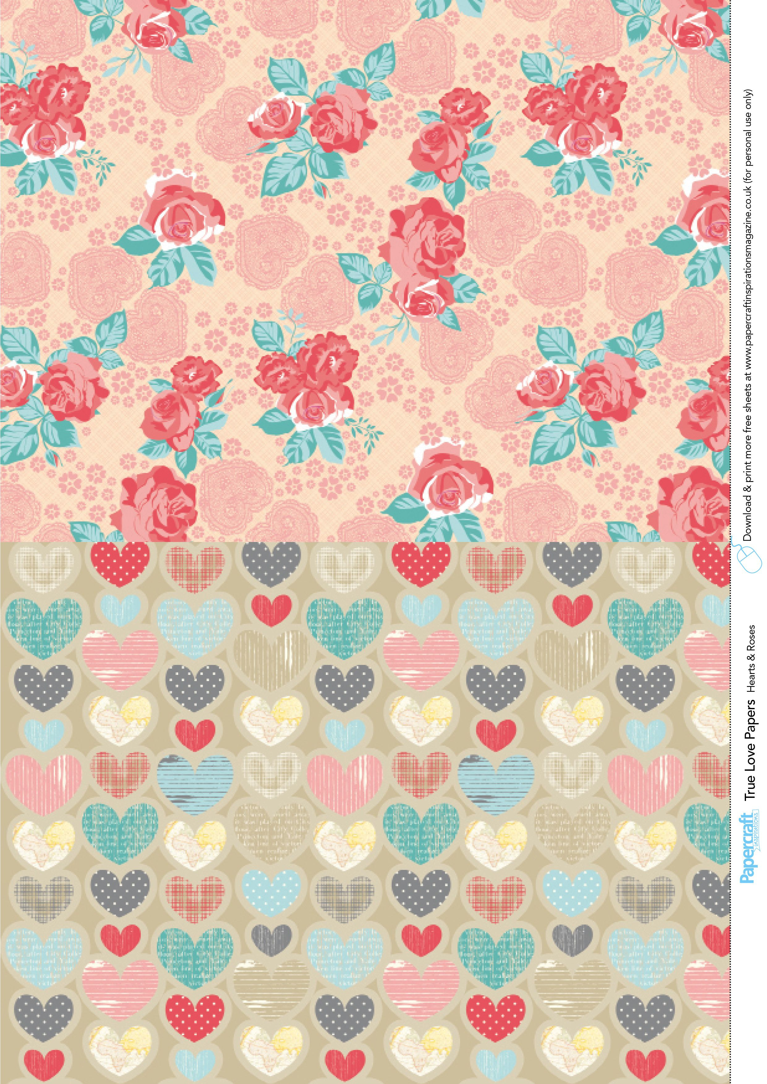 Valentine's Day Free Printable Papers   Free Printables   Digital - Free Printable Pattern Paper Sheets