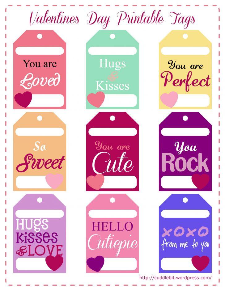 Free Printable Valentine Tags
