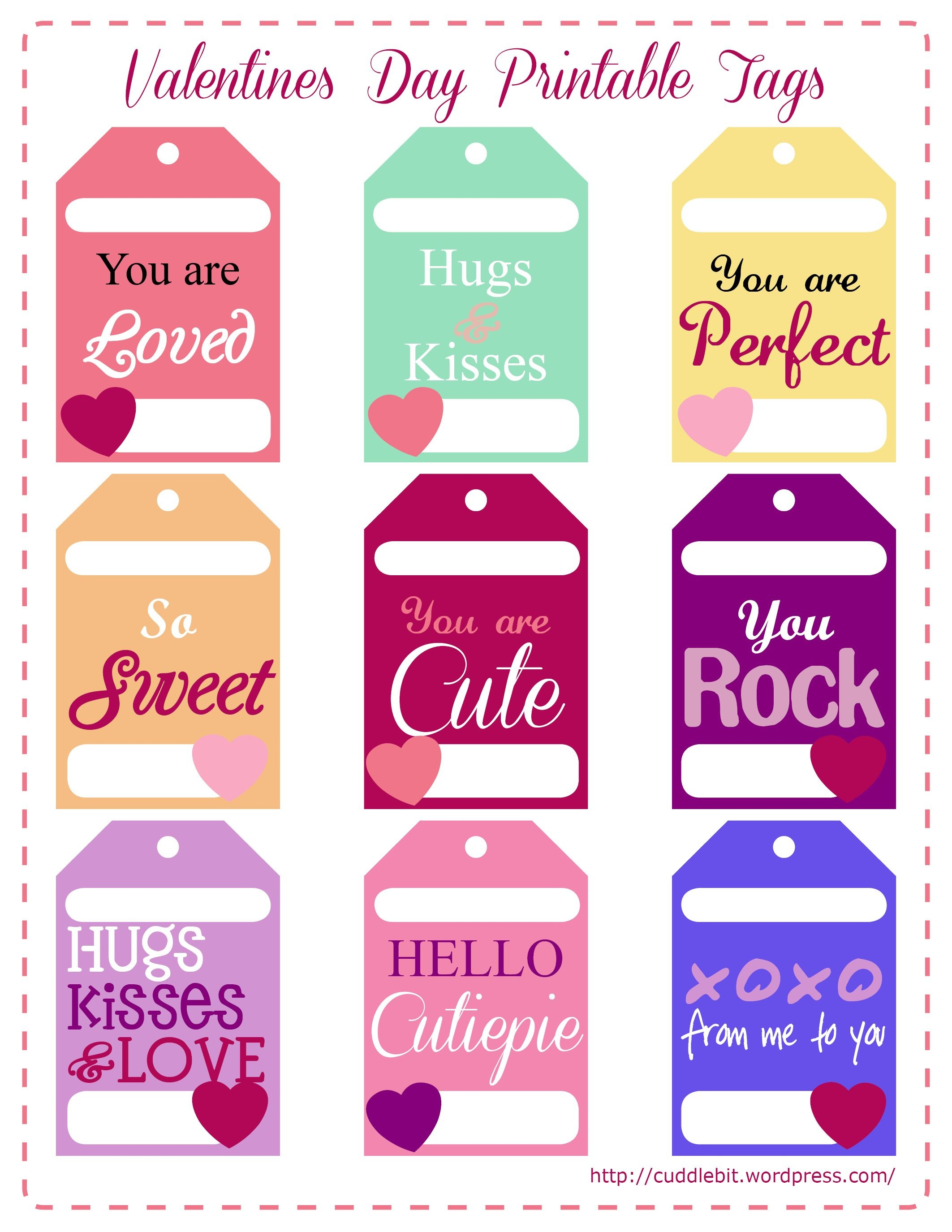 Valentine's Day Love Packs | So Stinking Cute!! | Valentine - Free Printable Valentine Tags