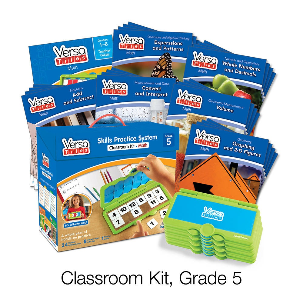 Versatiles® Math Classroom Kit, Grade 5 | Hand2Mind - Free Printable Versatiles Worksheets