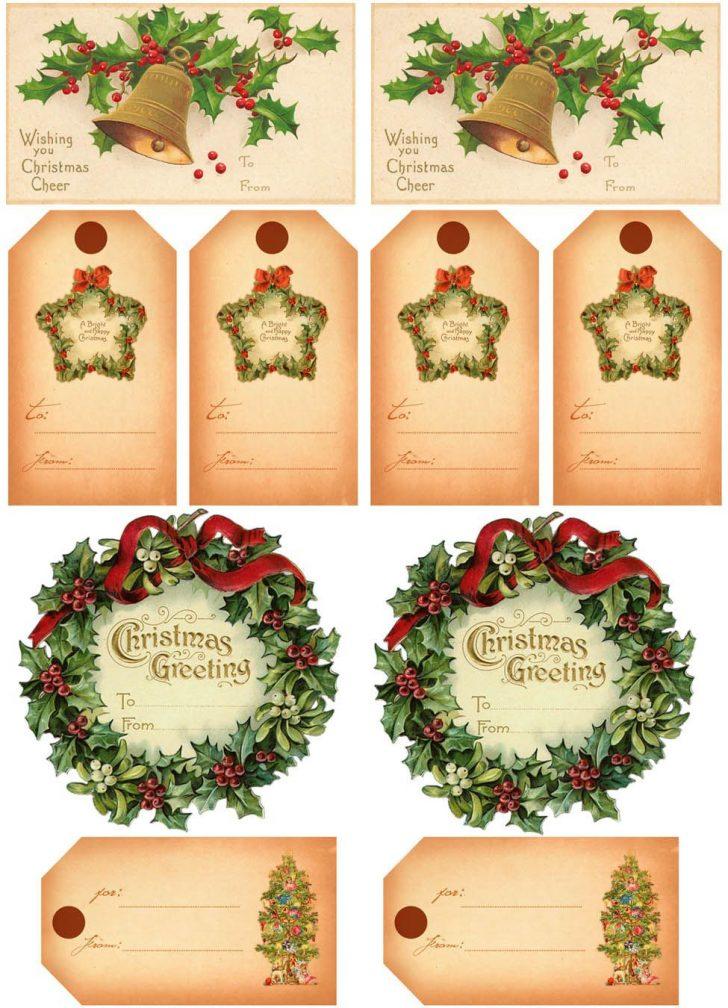 Free Printable Vintage Christmas Tags For Gifts