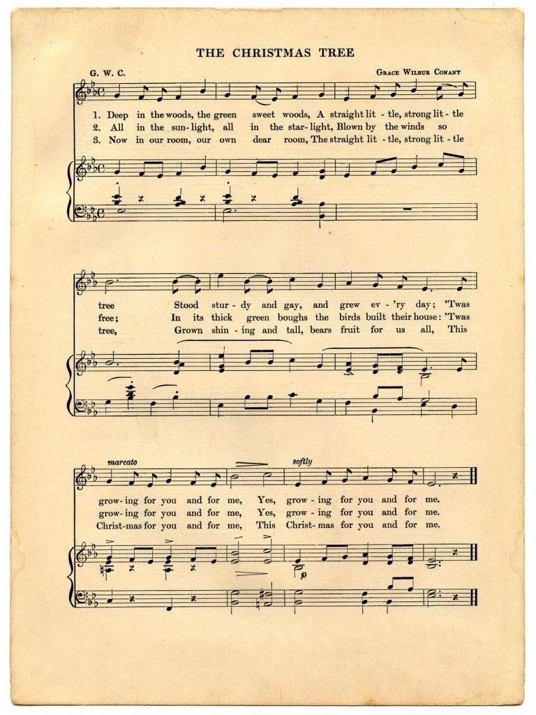 Vintage Christmas Sheet Music Printable   Free Printables - Christmas Carols Sheet Music Free Printable
