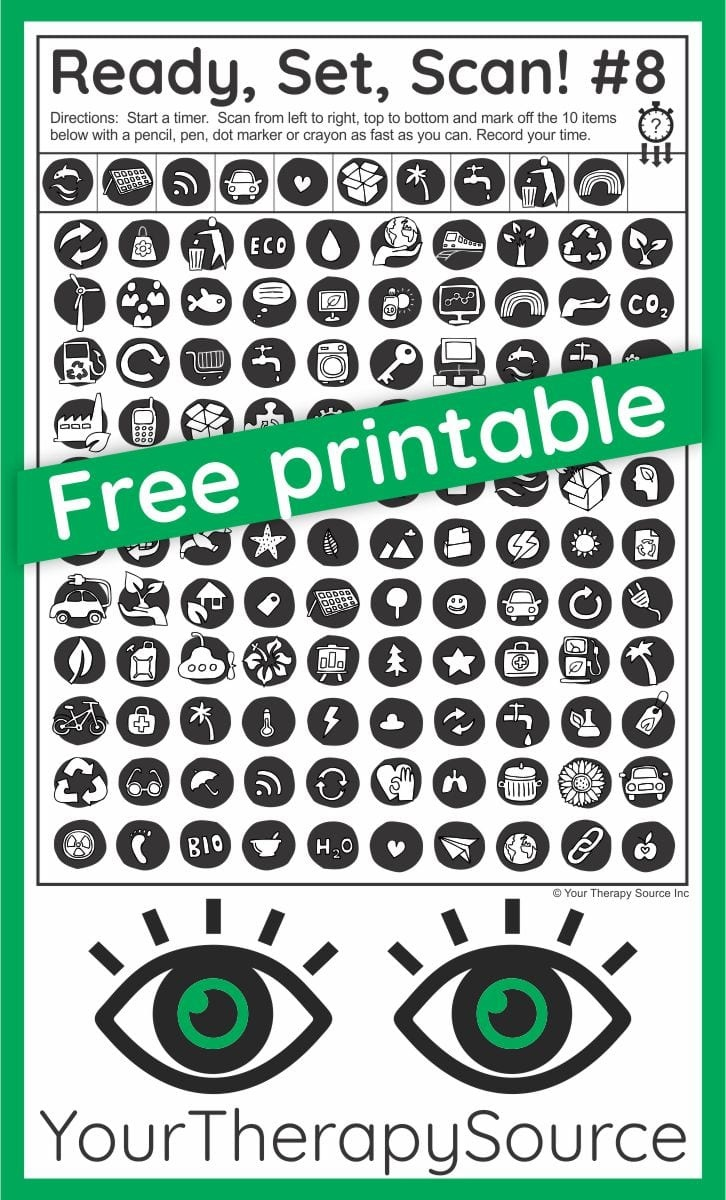 Visual Scanning Activities - Free Printables And Ideas - Your - Scan To Enter Sign Printable Free