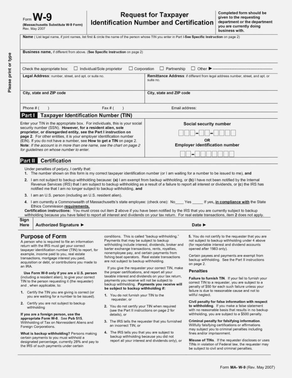 W14 Form Ma 14 Athiy Khudothiharborcity Co Blank W 14 Nj Printable - Free Printable W9