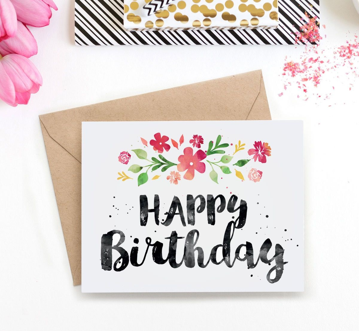 Watercolor Birthday Card At Getdrawings | Free For Personal Use - Free Printable Birthday Cards For Her