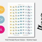 Weather Kawaii – Planner Addiction   Free Printable Kawaii Stickers