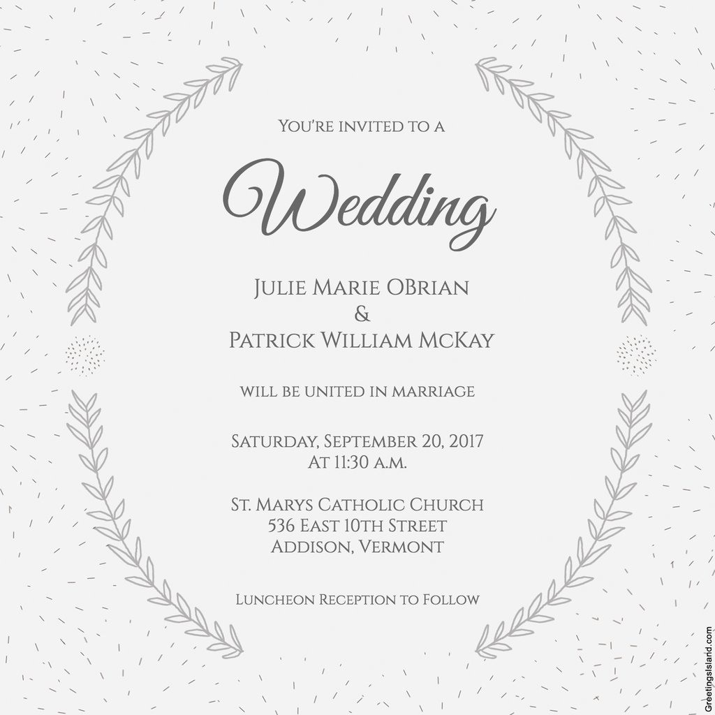 Wedding Invitation Email Template Free Download | Lazine - Free Printable Wedding Invitations Templates Downloads